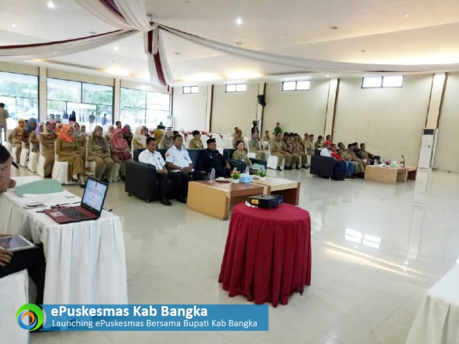 Launch ePuskesmas at District Bangka